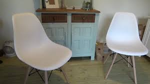 VECELO Eames Style DSW Eiffel Plastic Retro Dining Chair Review - YouTube