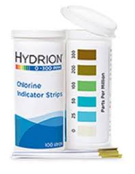 Pro Hydrion Chlorine Test Strips Ch 300 0 300 Ppm
