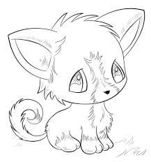 Kawaii Chibi Kitten Coloring Page Free Printable Coloring Pages