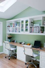 built in double desk great idea for craft room and aywhere a desk is needed