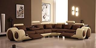 Amazoncom Modern Furniture VIG 4087 Bonded Leather Sectional