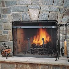 pilgrim rumford fireplace sized spark guard