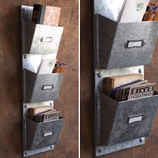 galvanized wall pocket organizer