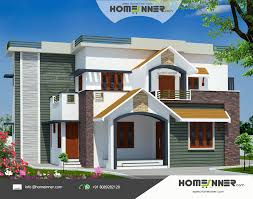Front House Design Glamorous 2960 Sq Ft 4 Bedroom Indian House Design Front  View Design Ideas