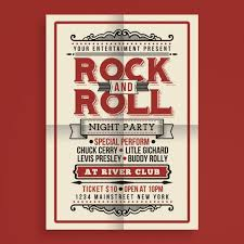 Free Music Poster Templates Vintage Rock And Roll Music Poster Template For Free