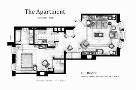 Floorplan Of Cc Baxter Apartment From The Movie The Apartment By