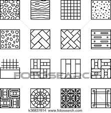 床 材料 線 ベクトル アイコン クリップアート切り張りイラスト絵画集