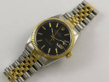 mens 18k gold rolex rolex oyster perpetual datejust 16013 18k gold steel gents watch year 1985