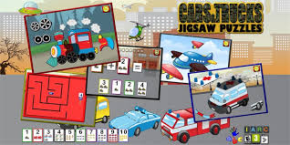 Get Preschool Car Truck and Engine Jigsaw Puzzle Shapes - learning ...