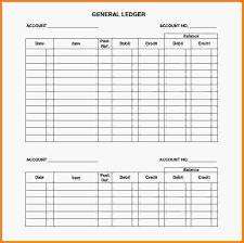 Sample General Ledger Template | Trattorialeondoro