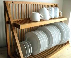 Kitchen Plate Rack Cabinet Stainless Steel Dish Storage Cabinet Wooden  Plate Rack