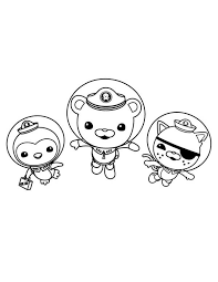 Small Picture Kwazii and Peso and Captain Barnacles Swimming in The Octonauts
