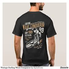 Vintage Surfing <b>Wave Conqueror</b> T-Shirt | Zazzle.com in 2020 ...