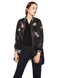 zara er jacket with patches