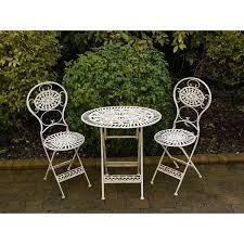 cream 2 seater bistro set patio set