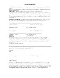 Free 5 Printable Quit Claim Deed Form Template Pdf Sample