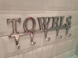 Towel Hanger Large Towel Holder Rack Bath Hanger Hooks Wall Mounted Bathroom