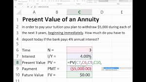 Finding The Present Value Of An Annuity Due In Excel