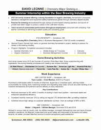 Example Of Resume For Internship Format Of Resume For Internship Students Elegant Resume Templates 15