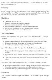 resume templates massage therapist massage therapist resume template