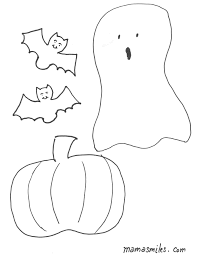 Small Picture Halloween Coloring Pages and Halloween Felt Board Shapes