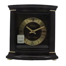 seiko qxj030blh wooden mantel clock w chimes
