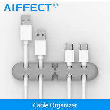 AIFFECT Silicone Cable Winder Plug Holder Cable Organizer Cable Management  Desk Wire Storage Device Desk Wire