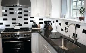 black kitchen tiles subway black white tile black and white kitchen wall tiles ideas