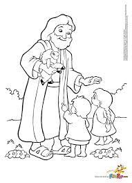 Small Picture Jesus and Kids Coloring Page Free Printable Coloring Pages
