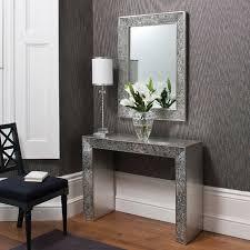 entryway furniture with mirror. exellent furniture classyandelegantconsoletablewithmirrordesign silver in entryway furniture with mirror