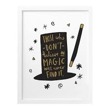 Roald Dahl Quotes Best Roald Dahl Magic Hat Print Old English Company Hand Lettered Goods