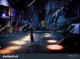 The Lighting Guy Young Guy Mounts Lighting Equipment On Stock Photo Edit Now