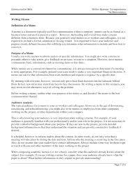 Memo Format Sample For Business Samples Of Essays Definition