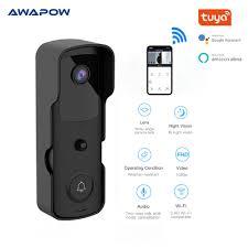 Awapow Thông Minh Tuya Video Chuông Cửa WIFI Kết Nối Với Video Camera Giám  Sát HD Ban Đêm Hình Chuông Cửa Hệ Thống An Ninh / Intercom