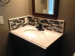Glass Tile Backsplash Ideas Bathroom Signedbyange Interesting Tile Backsplash In Bathroom