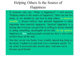 Does Happiness Come from Helping Others  SlidePlayer