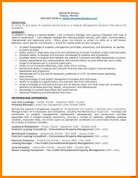 Sample Resume For Property Management Job Stunning Leasing