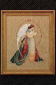 Angel Cross Stitch Patterns Custom Lavender And Lace Guardian Angel Cross Stitch Pattern 48Stitch