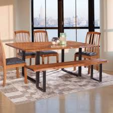 wood dining room chair. 6pc Solid Wood Dining Set W/ Bench \u2013 Genuine Amish Room Chair