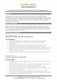 Construction Estimator Resume Sample Sales Estimator Resume Samples Qwikresume