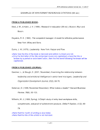 Apa Format Reference Page Template Business Plan Magnificent Cover