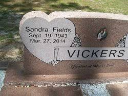 Sandra Fields Vickers (1943-2014) - Find A Grave Memorial