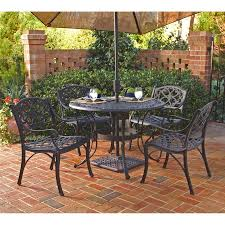 home styles biscayne 5 piece black metal frame patio dining set