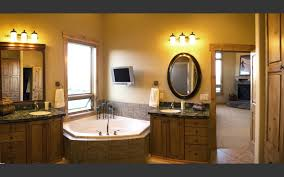image of corner bathroom vanity light fixtures