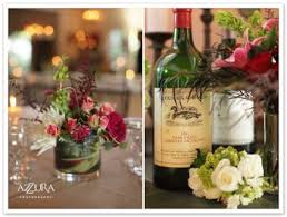 Wedding Table Decorations Wine Theme