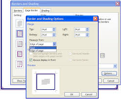 Microsoft Word Border Page Options Borders Microsoft Word Document