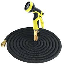 50 ft garden hose expandable multi purpose garden hose with brass connector and 9 patterns spray