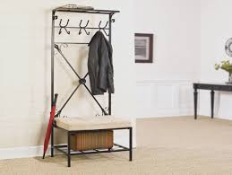 Pinnig Coat Rack PINNIG Coat Rack With Shoe Storage Bench Black 100 Cm IKEA 20