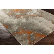 stunning orange and grey rug 22