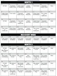 Excel Calendar Schedule Insanity Schedule Excel Insanity Schedule Excel Insanity Workout